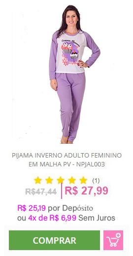 Pijama Inverno Adulto Feminino - NPJAL003