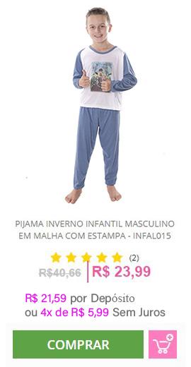 Pijama Inverno Infantil Masculino - INFAL015